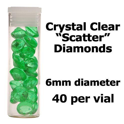 Crystal Candy Edible Isomalt Diamonds -  6mm. Marina Green