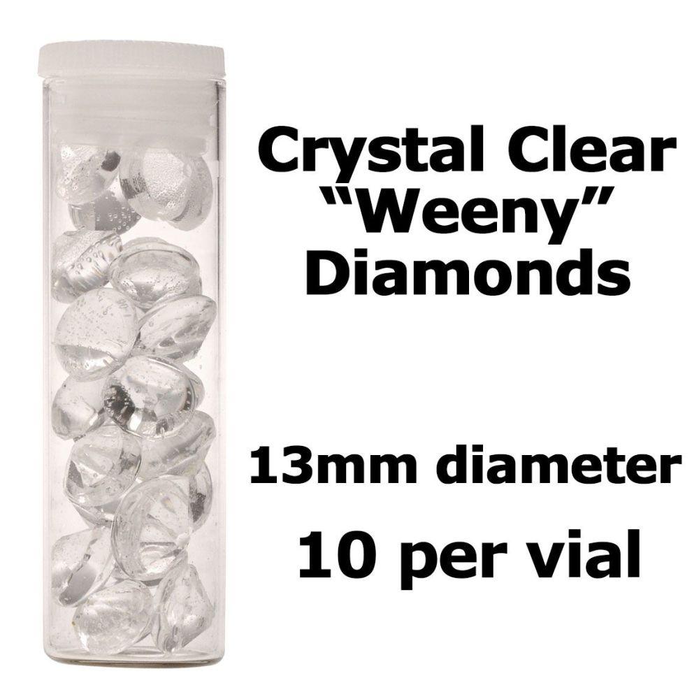 Crystal Candy Edible Isomalt Diamonds -  13mm. Clear