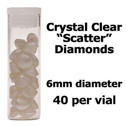 Crystal Candy Edible Isomalt Diamonds -  6mm. Pearl