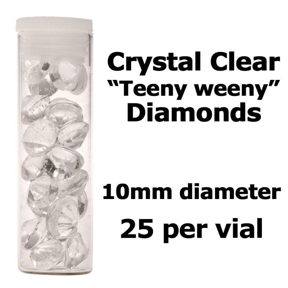 Crystal Candy Edible Isomalt Diamonds - 10mm. Clear