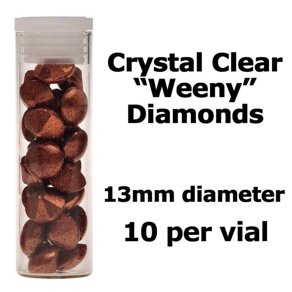 Crystal Candy Edible Isomalt Diamonds -  13mm. Copper