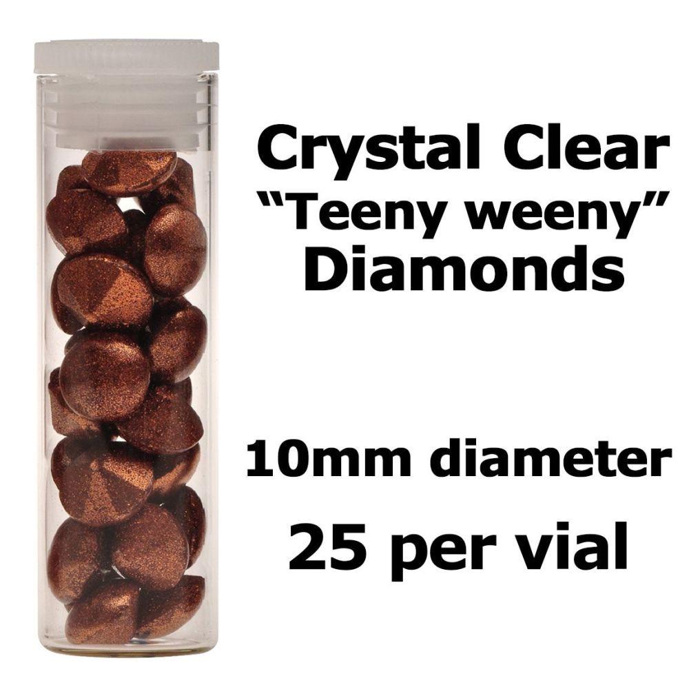 Crystal Candy Edible Isomalt Diamonds - 10mm. Copper