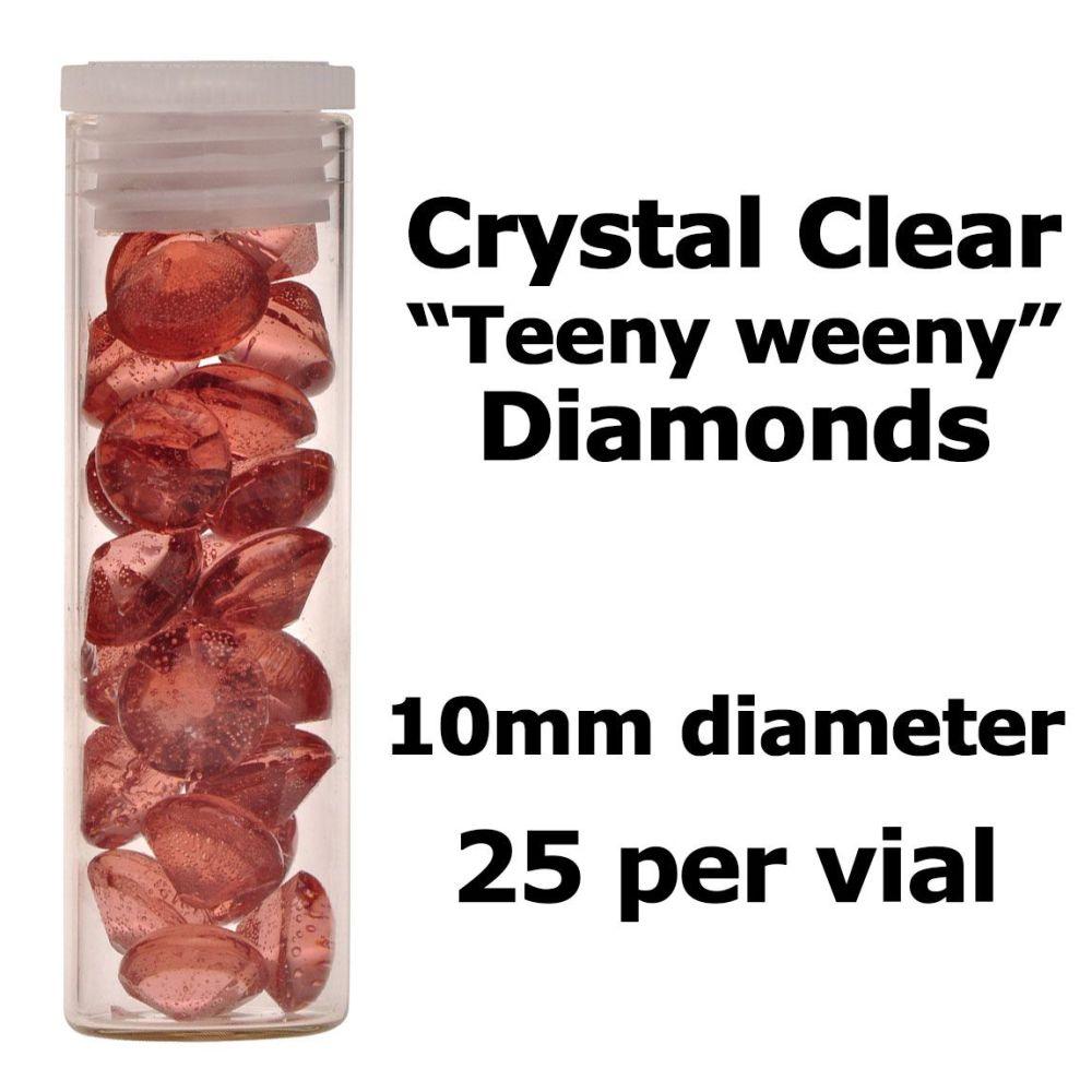 Crystal Candy Edible Isomalt Diamonds - 10mm. Brown