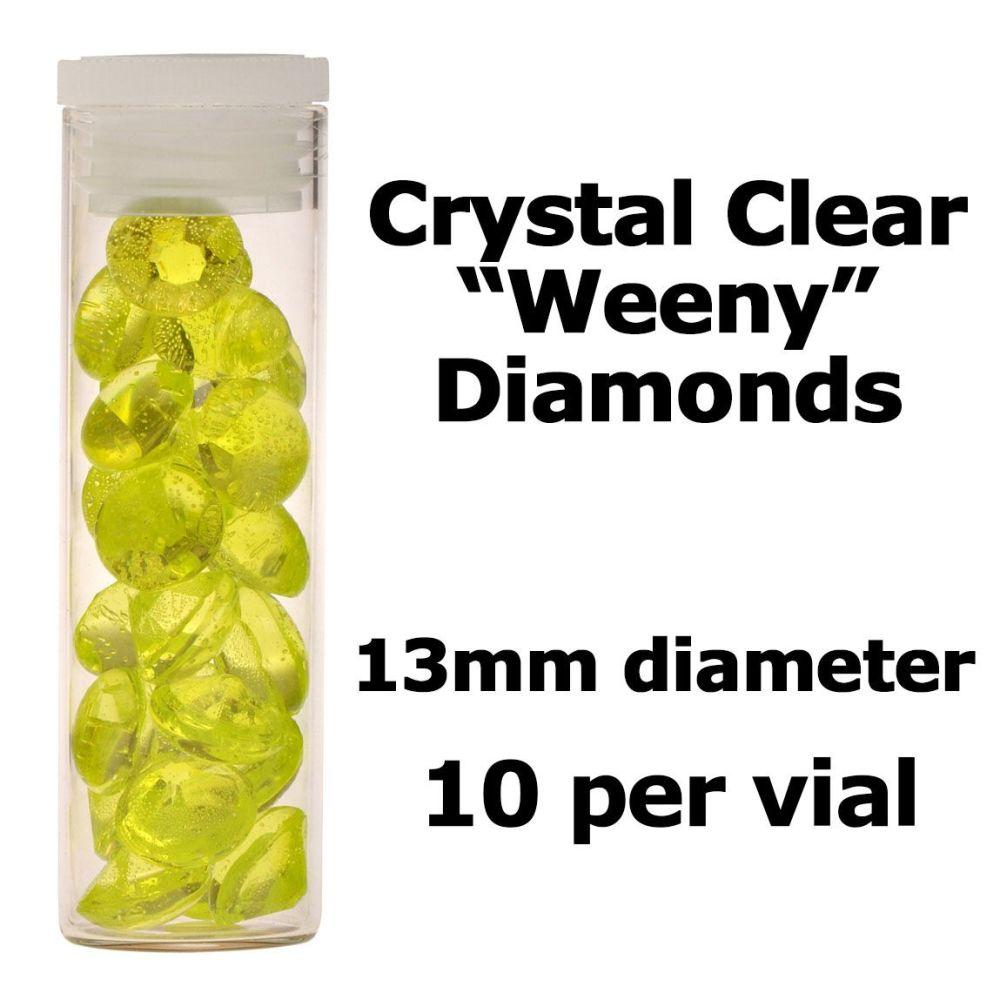 Crystal Candy Edible Isomalt Diamonds -  13mm. Lime