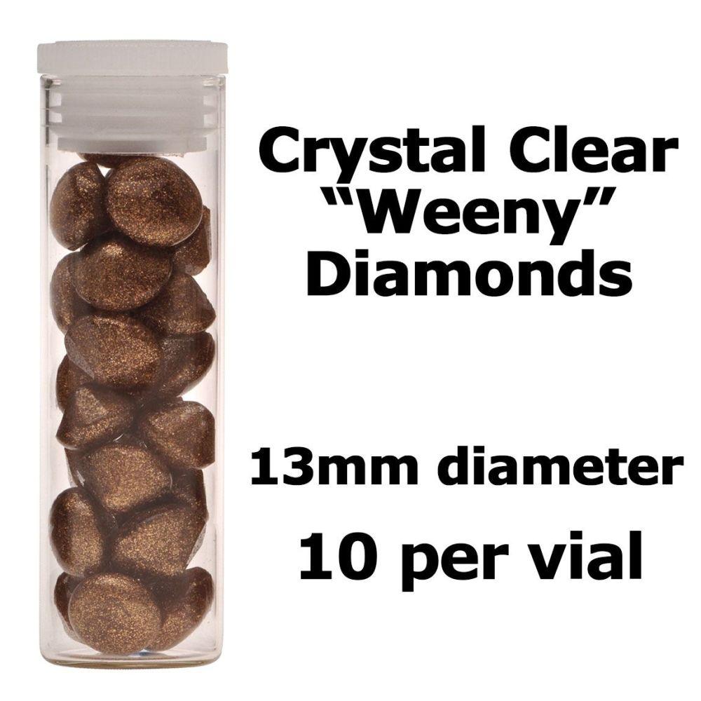 Crystal Candy Edible Isomalt Diamonds -  13mm. Gold