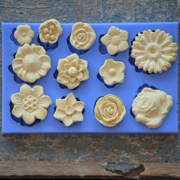 Crystal Candy Bas Relief Moulds -  BAS RELIEF ASSORTED BLOOMS