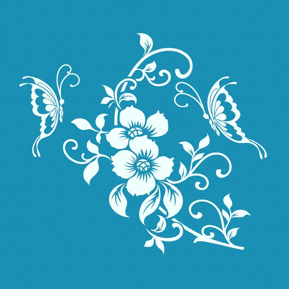 Crystal Candy Mini Mesh Stencils - Flowers of Life