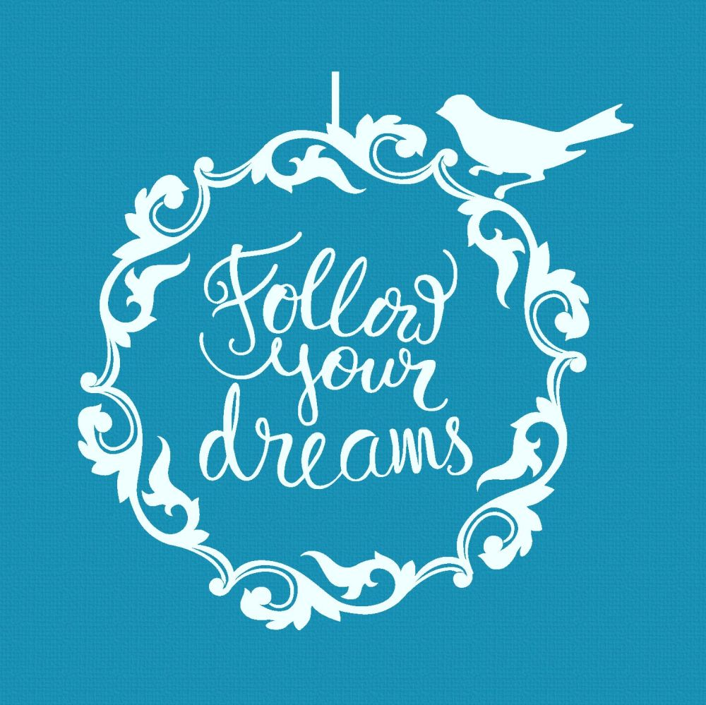 Crystal Candy Mini Mesh Stencils - Follow Your Dreams