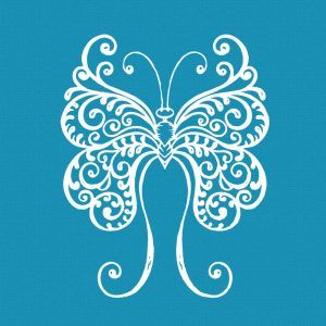 Crystal Candy Mini Mesh Stencils - Butterfly