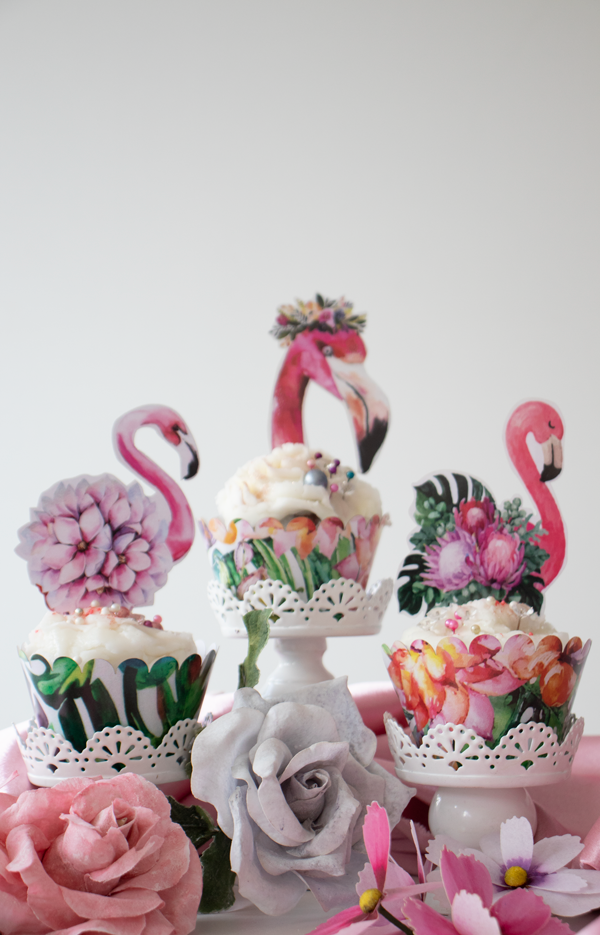 Crystal Candy Cupcake Collars and Toppers