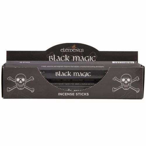 Black magic incense sticks by elements