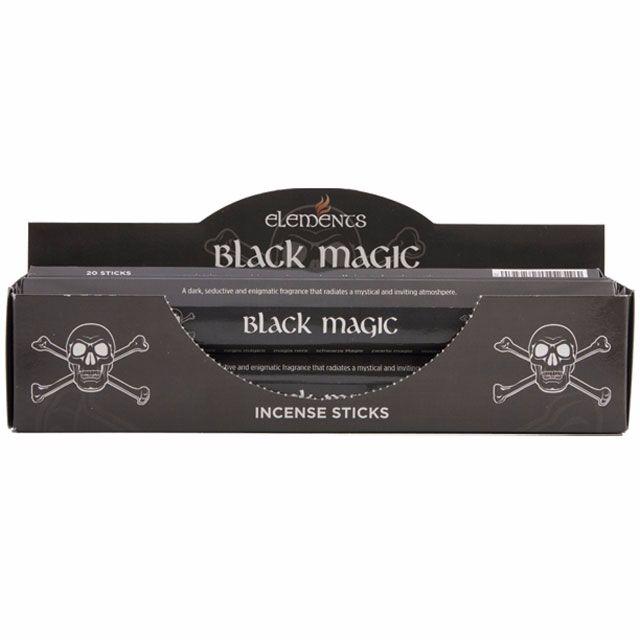 Black magic incense sticks by elements