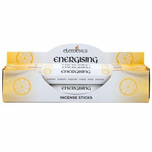 Energising aromatherapy incense sticks by elements