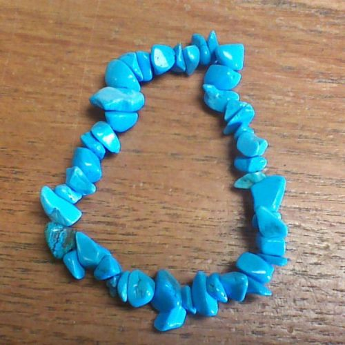 Gemstone Chip Bracelet - Blue Howlite