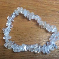 Gemstone Chip Bracelet - Clear Quartz
