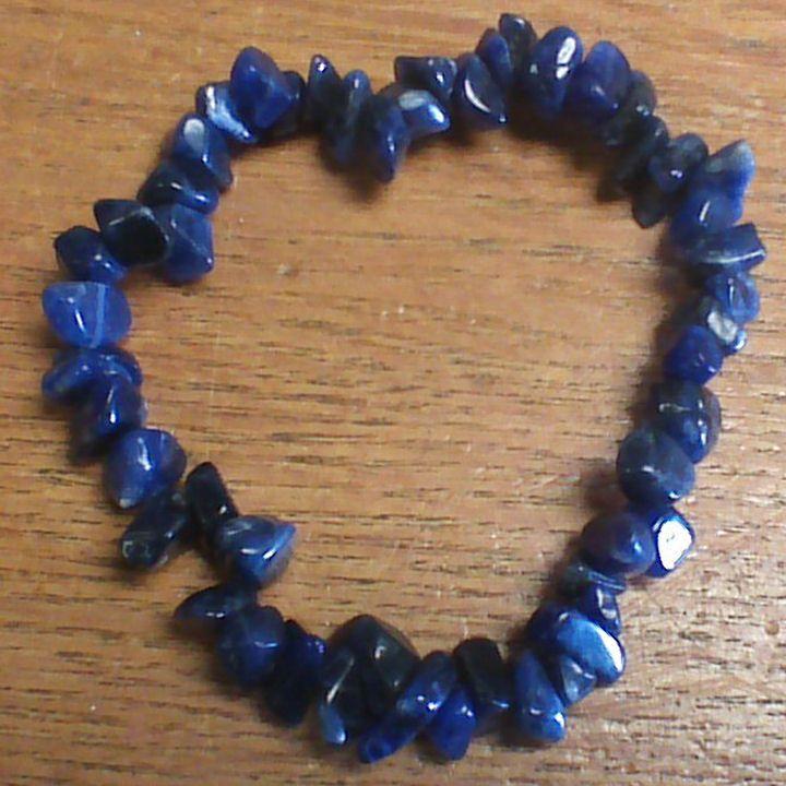 Gemstone Chip Bracelet - Dumortierite