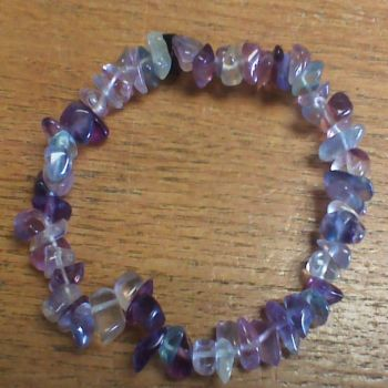 Gemstone Chip Bracelet - Fluorite
