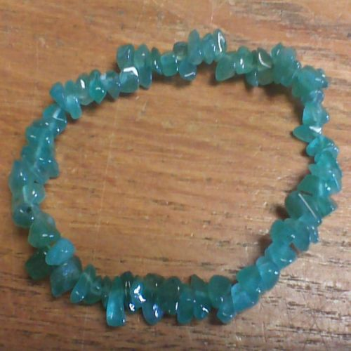 Gemstone Chip Bracelet - Green Aventurine