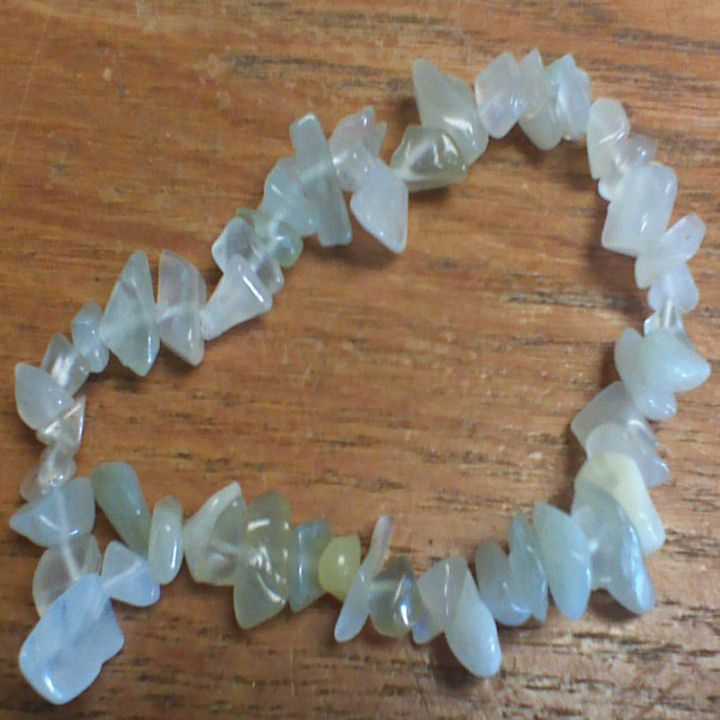 Gemstone Chip Bracelet - New Jade