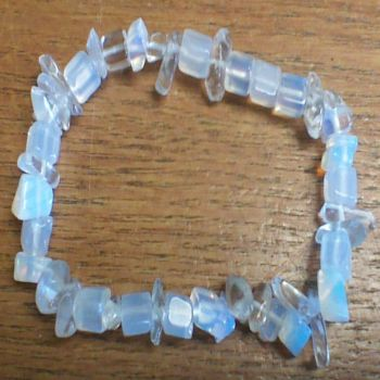 Gemstone Chip Bracelet - Opalite Moonstone
