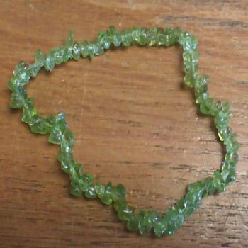 Gemstone Chip Bracelet - Peridot