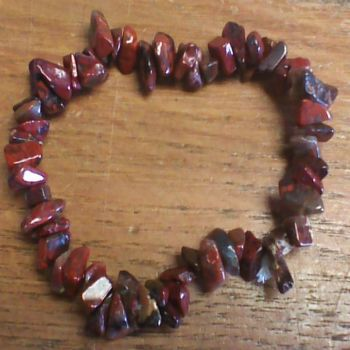 Gemstone Chip Bracelet - Red Jasper