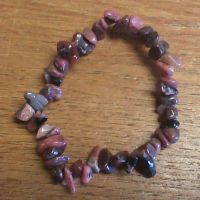 Gemstone Chip Bracelet - Rhodonite