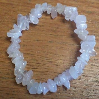 Gemstone Chip Bracelet - Rose Quartz