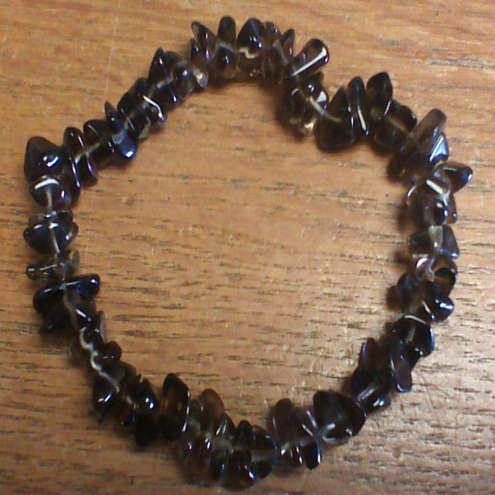 Gemstone Chip Bracelet - Smokey Quartz