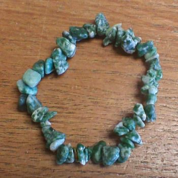 Gemstone Chip Bracelet - Tree Agate