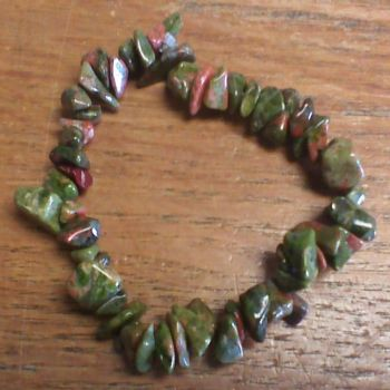 Gemstone Chip Bracelet - Unakite