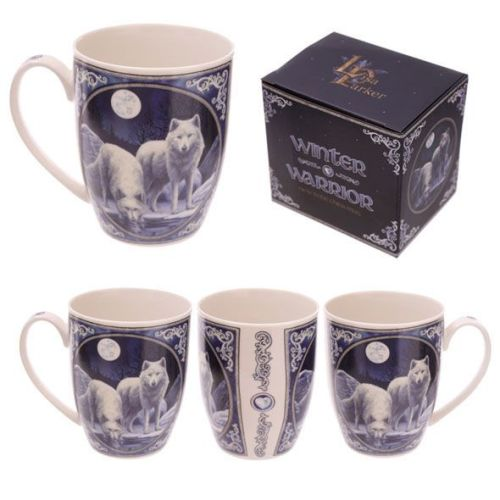Bone China Mug - Winter Warrior by Lisa Parker