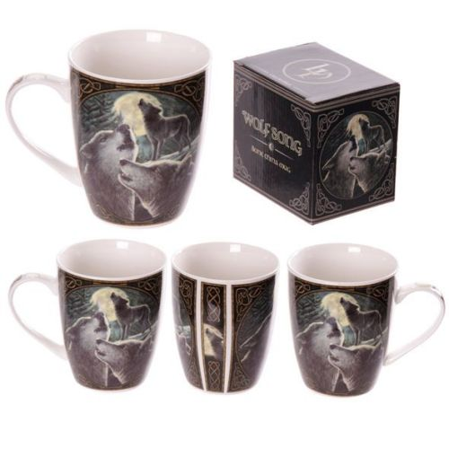 Bone China Mug - Wolf Song by Lisa Parker