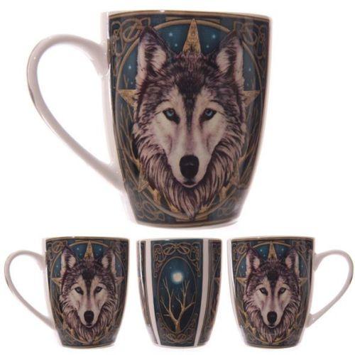 Bone China Mug - Wolf's Head by Lisa Parker
