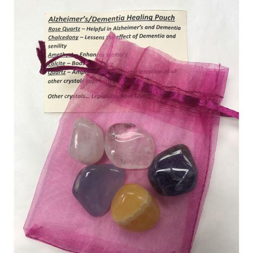Crystal Healing Pouch - Alzheimer's/Dementia