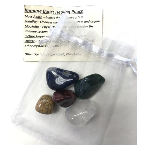 Crystal Healing Pouch - Immune Boost