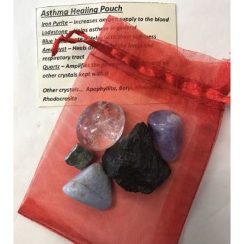 Crystal Healing Pouch - Asthma