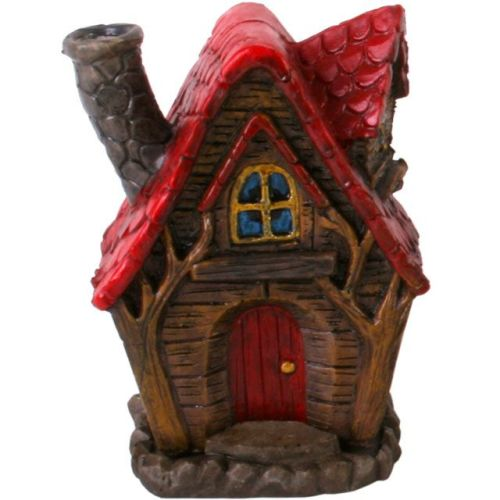 Fairy House Incense Cone Burner - Red Roof