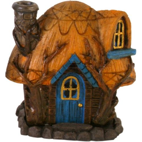 Fairy House Incense Cone Burner - Yellow Roof