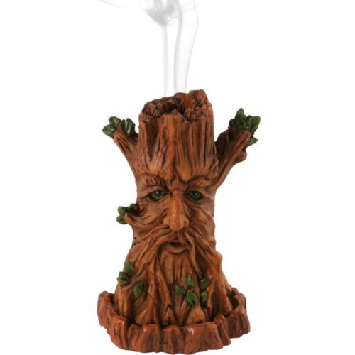 Green Man Tree Incense Cone Burner