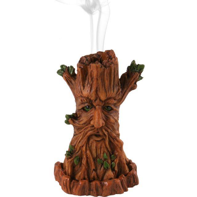 Green Man Tree Incense Cone Burner