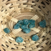 Raw Stone - Apatite, Clear Blue