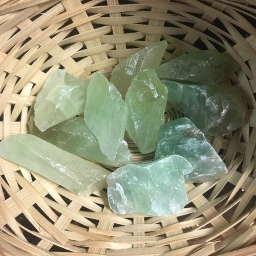 Raw Stone - Calcite, Green