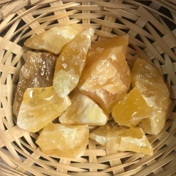 Raw Stone - Calcite, Yellow Smooth
