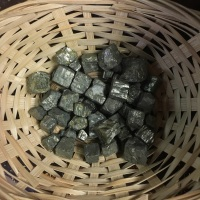 Raw stone - Iron Pyrite, Small Cube