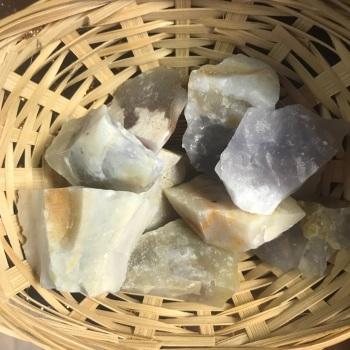 Raw Stone - Opal, White
