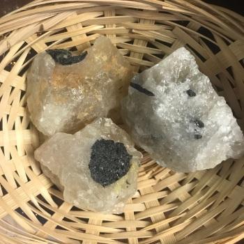 Raw Stone - Tourmaline in Quartz