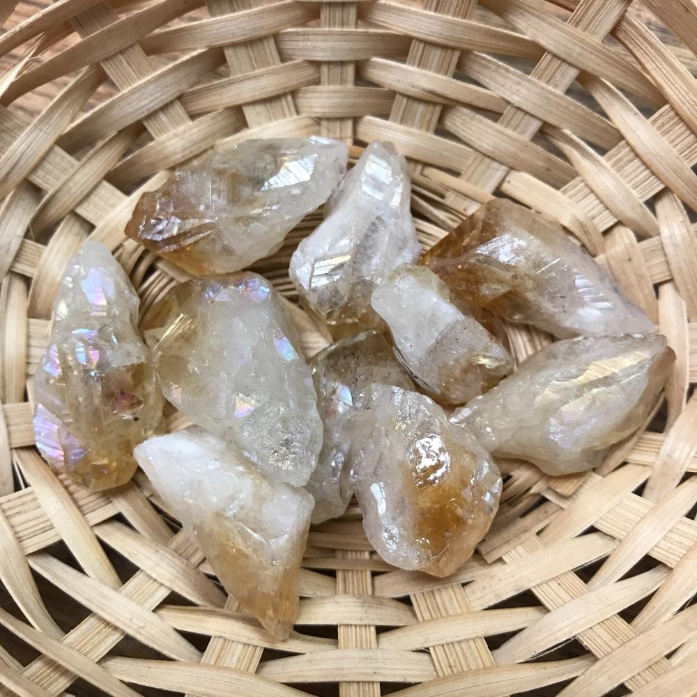 Raw Stone - Citrine Aura, Small Point