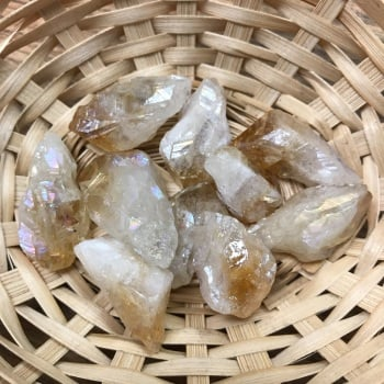 Raw Stone - Citrine Aura, Small Point