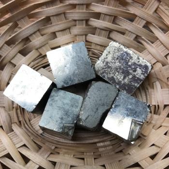 Raw Stone - Iron Pyrite, Medium Cube